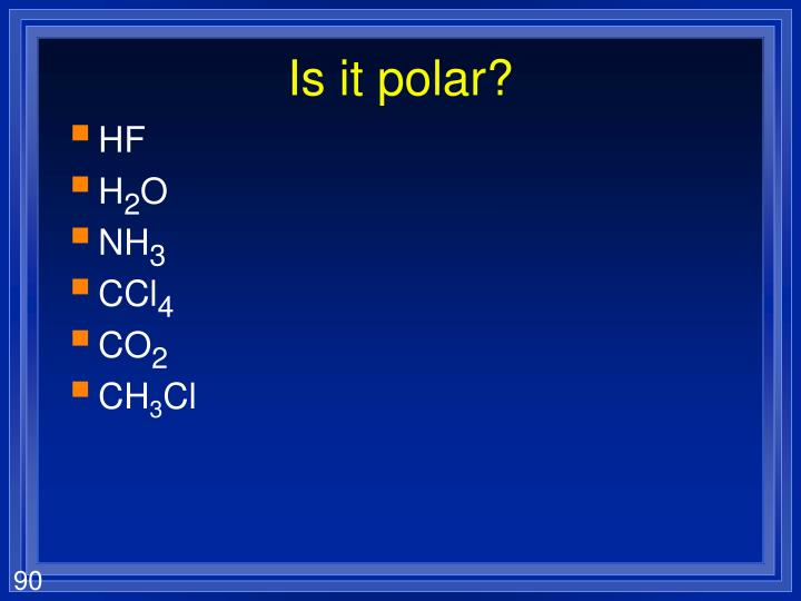 Is it polar?