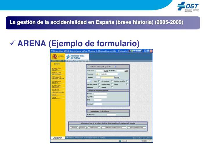 La gestión de la accidentalidad en España (breve historia) (2005-2009)