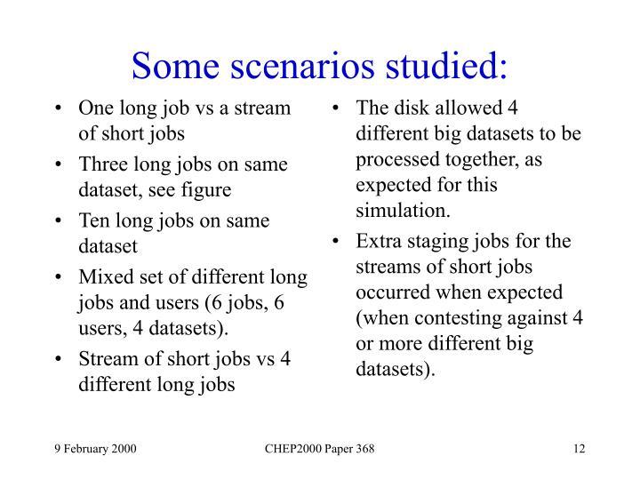 One long job vs a stream of short jobs