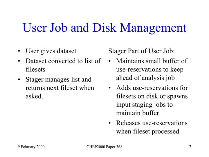 User gives dataset