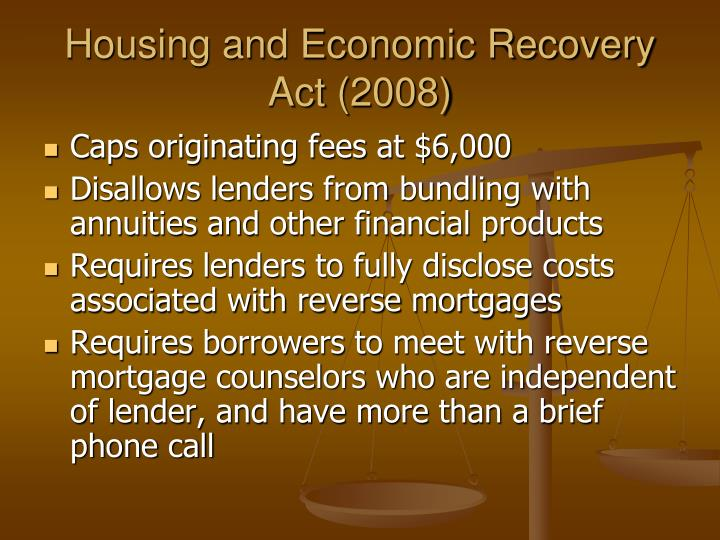 Housing and Economic Recovery Act (2008)