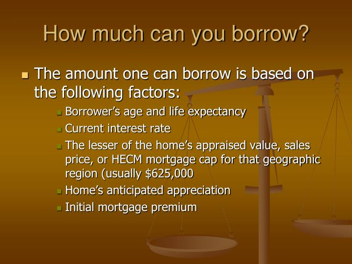 How much can you borrow?