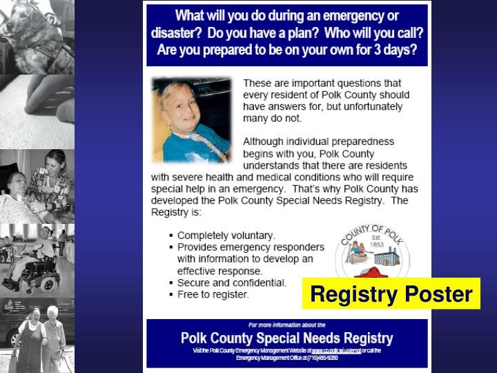 Registry Poster