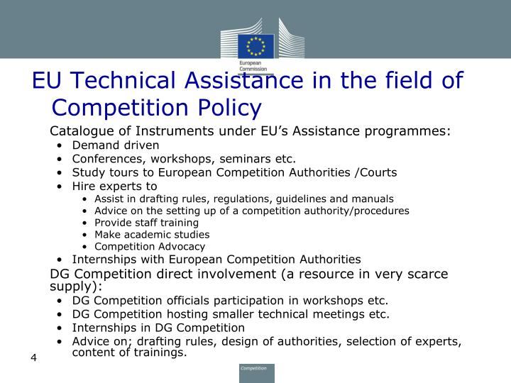 EU Technical Assistance in the field of Competition Policy
