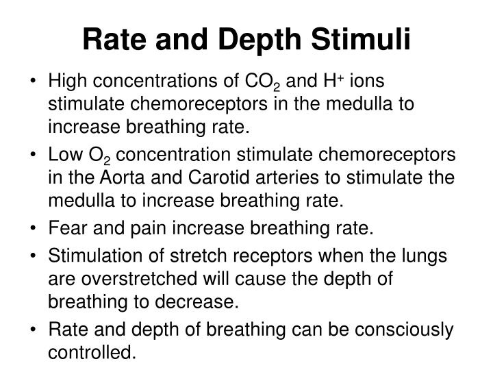 Rate and Depth Stimuli