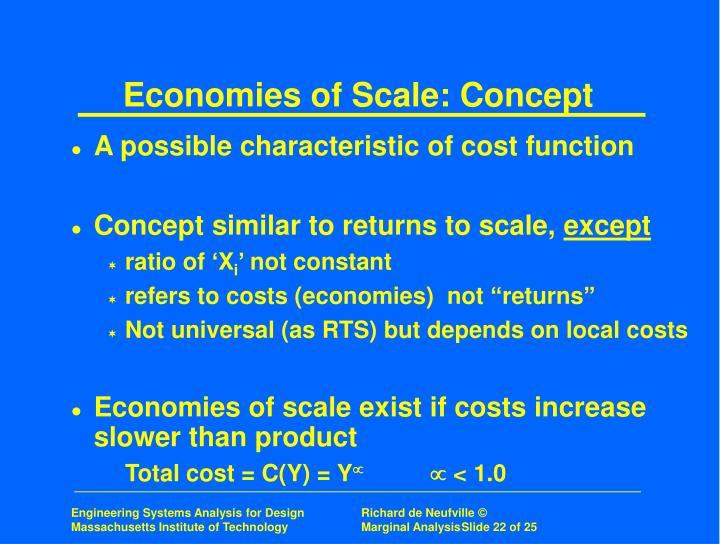 Economies of Scale: Concept
