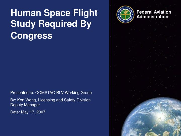 Human space flight study required by congress