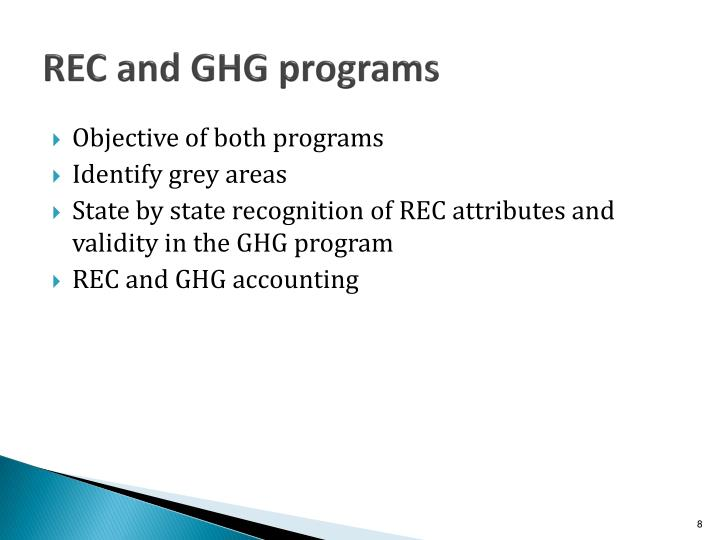 REC and GHG programs