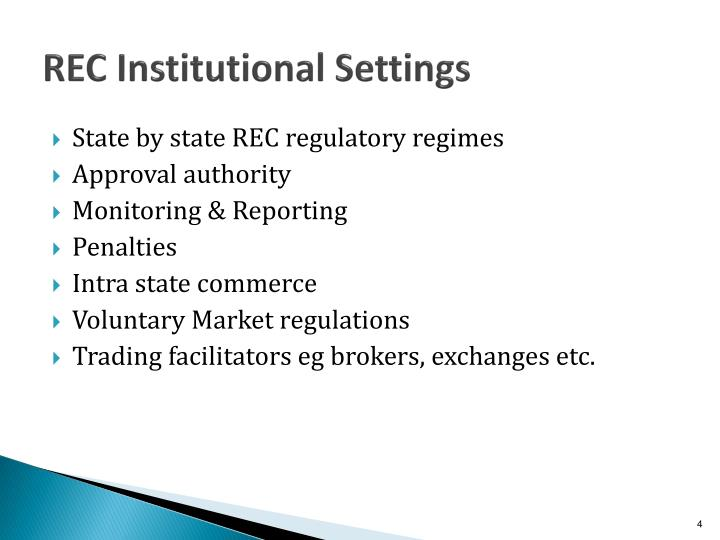 REC Institutional Settings