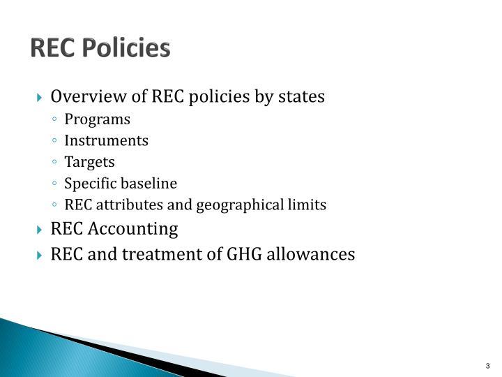 REC Policies