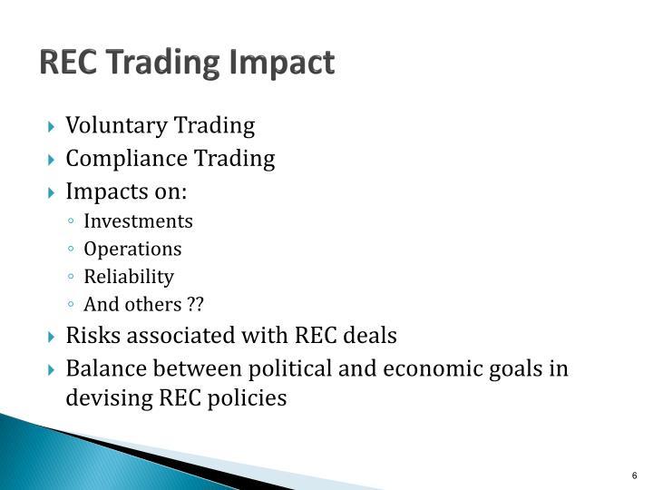 REC Trading Impact