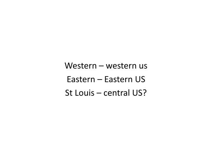 Western – western us