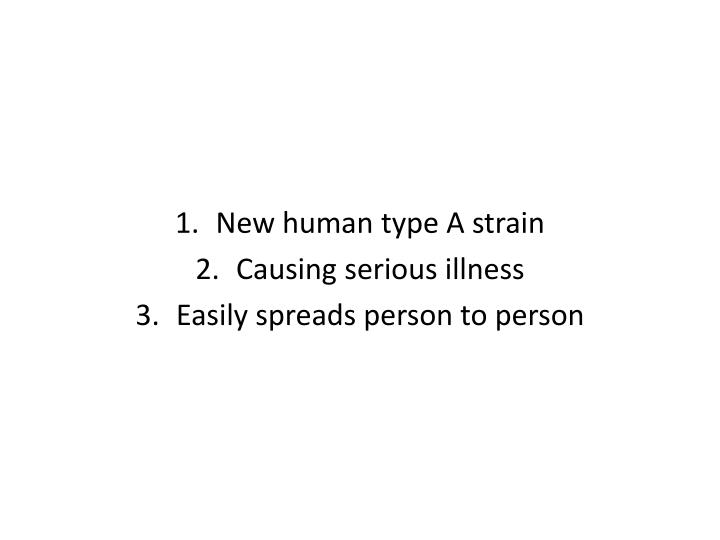 New human type A strain
