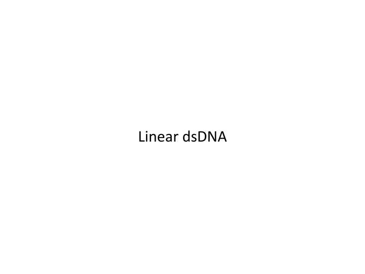 Linear dsDNA