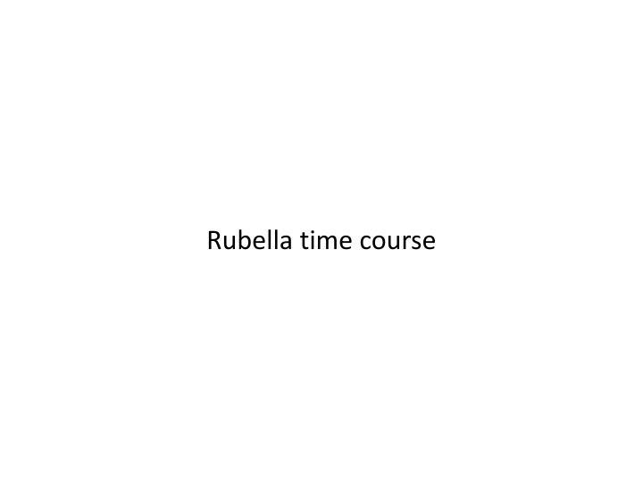 Rubella time course