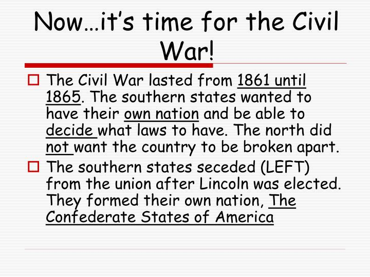 events that led up to the civil war essay The civil war home page contains thousands of pages of civil war events leading to war - a civil war on men and women by breaking up marriages.