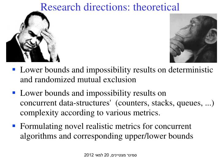Research directions: theoretical