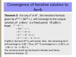 convergence of iterative solution to ax b1
