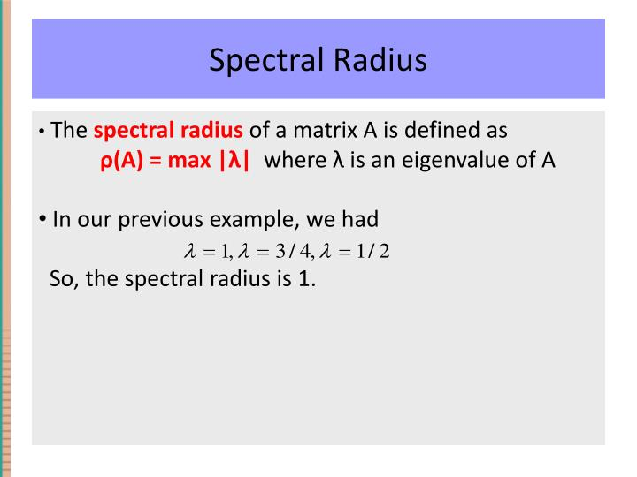 Spectral Radius
