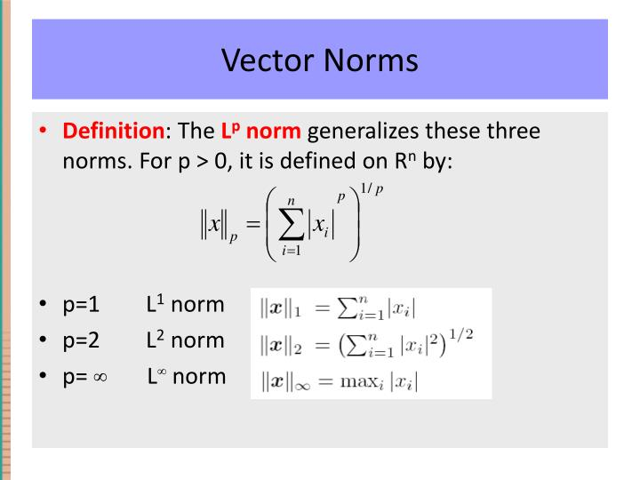 Vector Norms