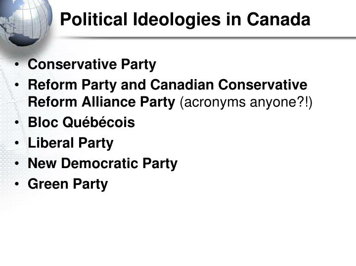 Political Ideologies in Canada