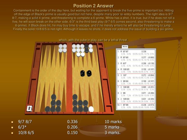 Position 2 Answer