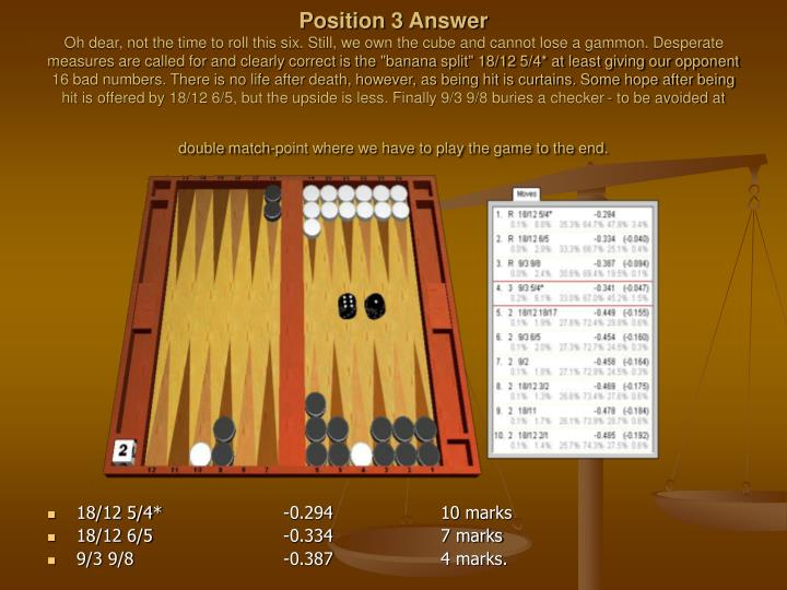 Position 3 Answer