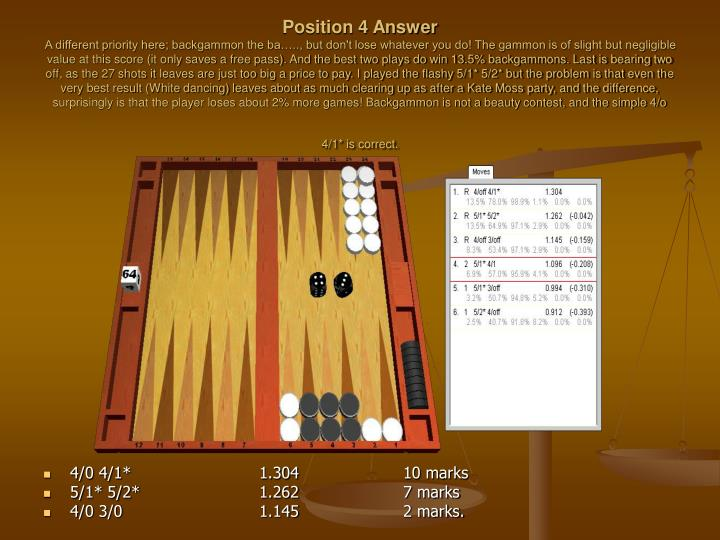 Position 4 Answer