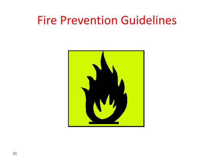 Fire Prevention Guidelines