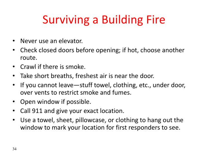 Surviving a Building Fire
