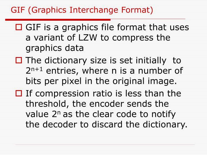 GIF (Graphics Interchange Format)