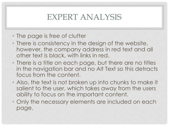 Expert Analysis