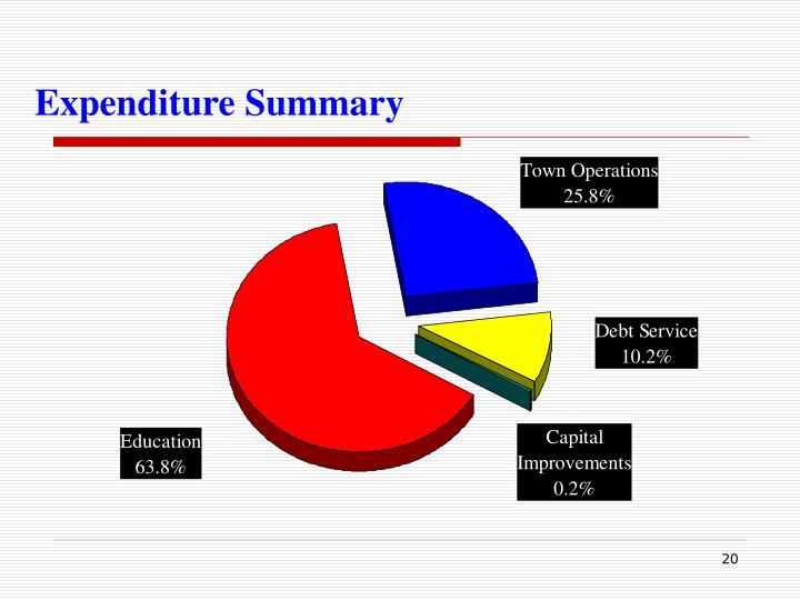 Expenditure Summary