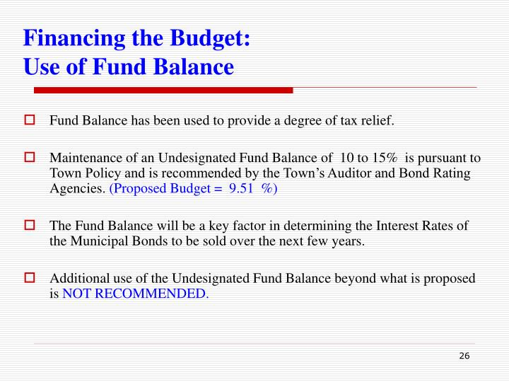 Financing the Budget: