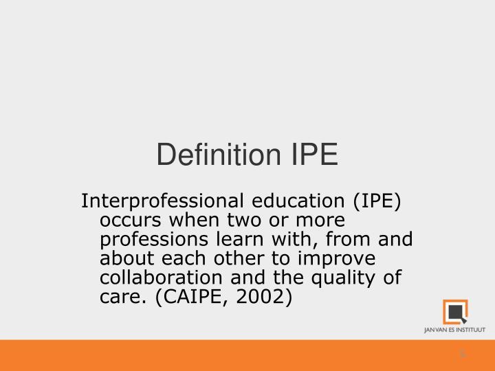 Definition IPE