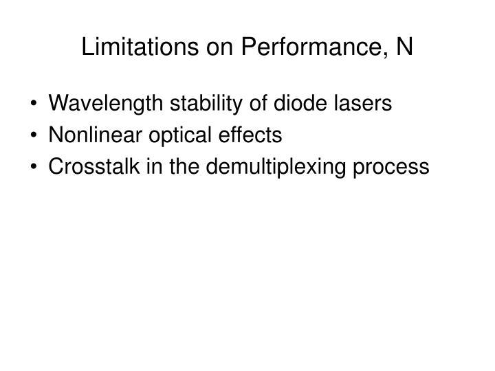 Limitations on Performance, N