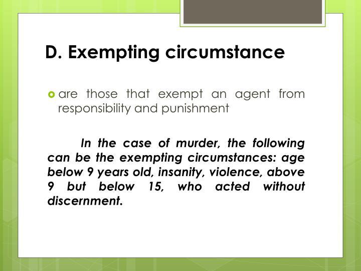 D. Exempting