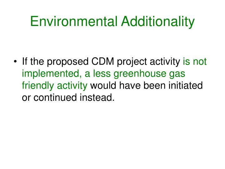Environmental Additionality