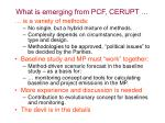 what is emerging from pcf cerupt
