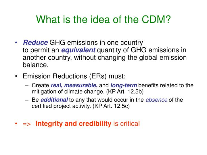 What is the idea of the CDM?