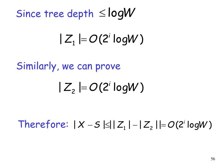 Since tree depth