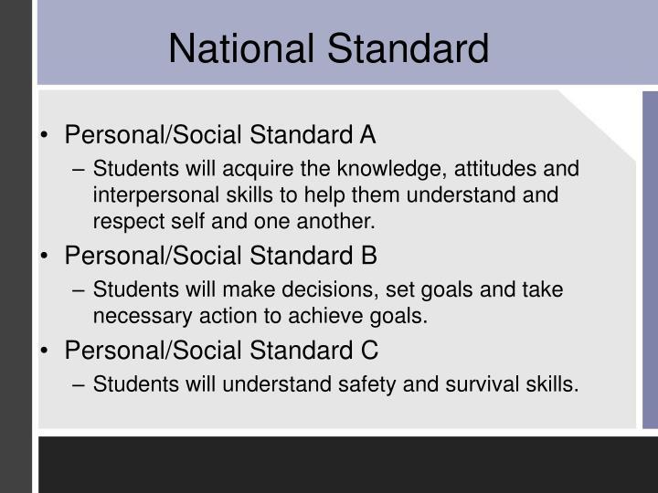 Personal/Social Standard A