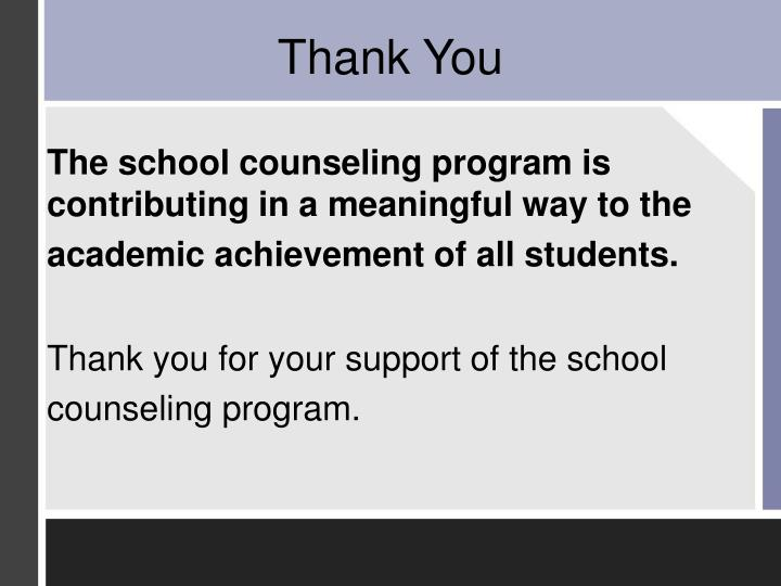 The school counseling program is