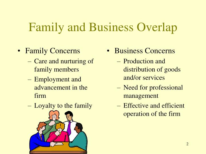 Family and business overlap