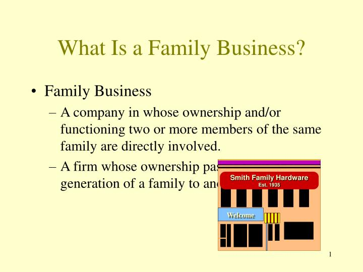 What is a family business