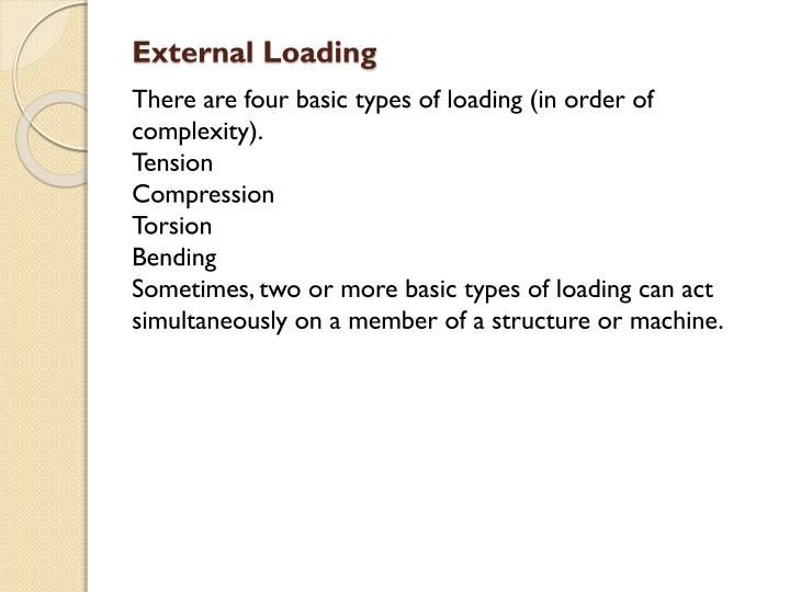 External Loading