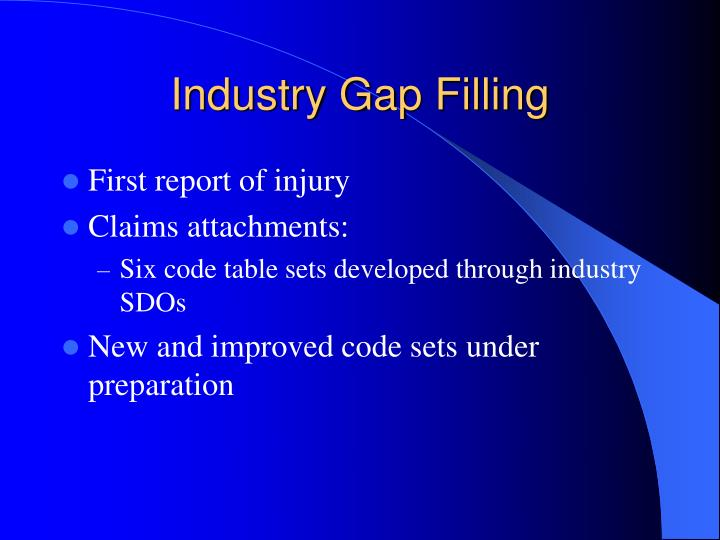 Industry Gap Filling