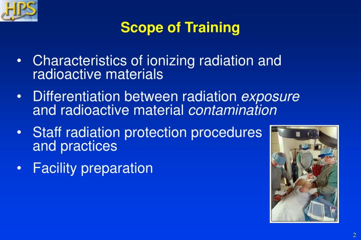 Scope of Training