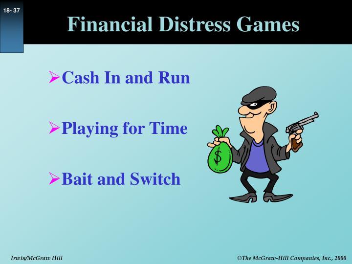 Financial Distress Games