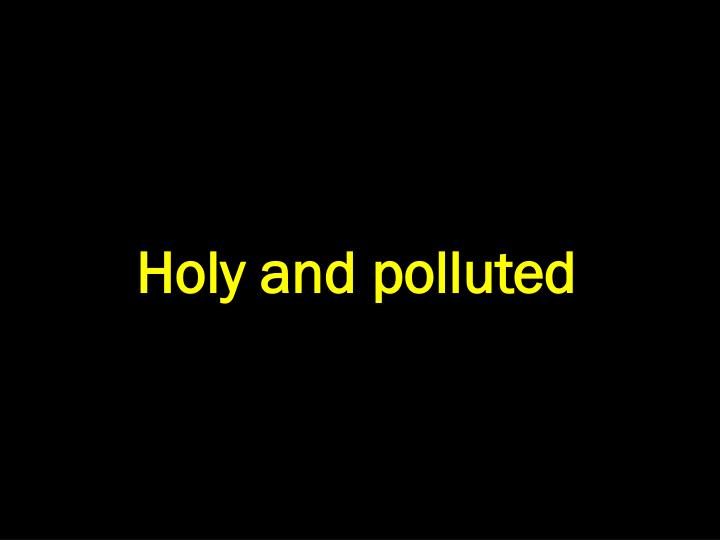 Holy and polluted
